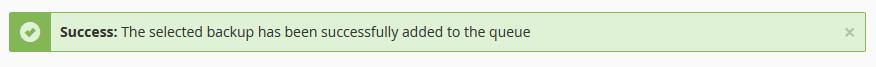 cpanel restore file success